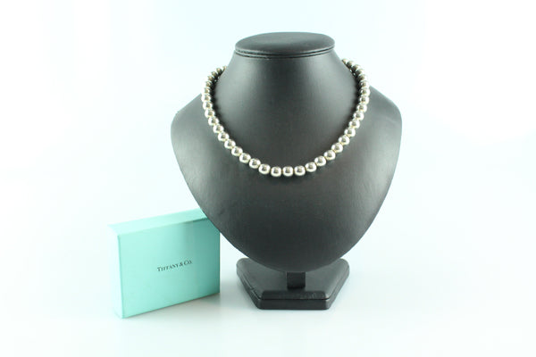 Tiffany & Co. Sterling Silver Large Beaded Necklace