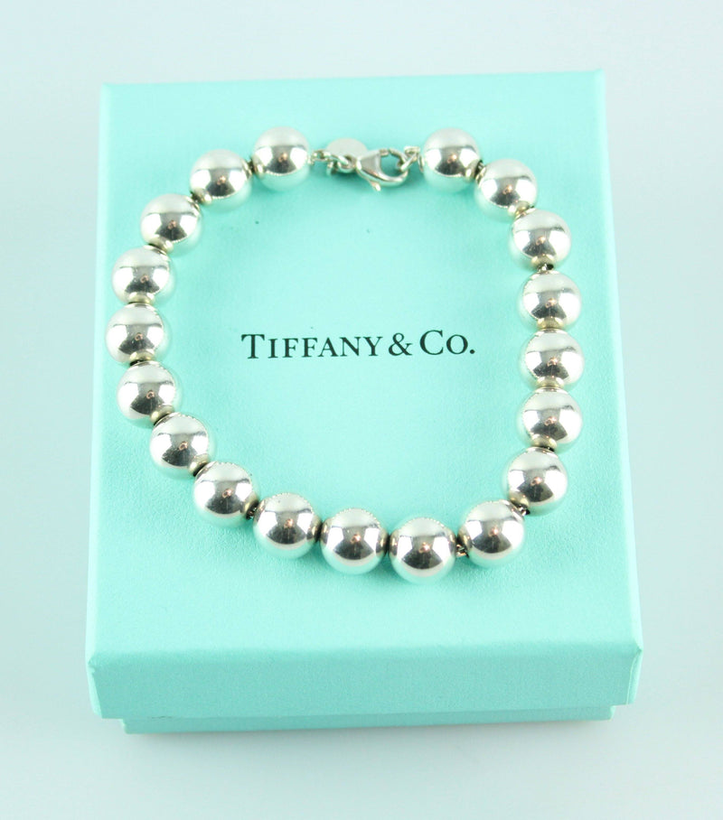 Tiffany & Co. Sterling Silver Large Beaded Bracelet