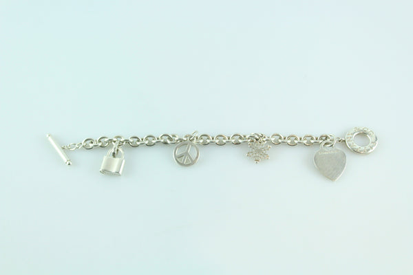 Tiffany & Co. Toggle Bracelet With Four Charms