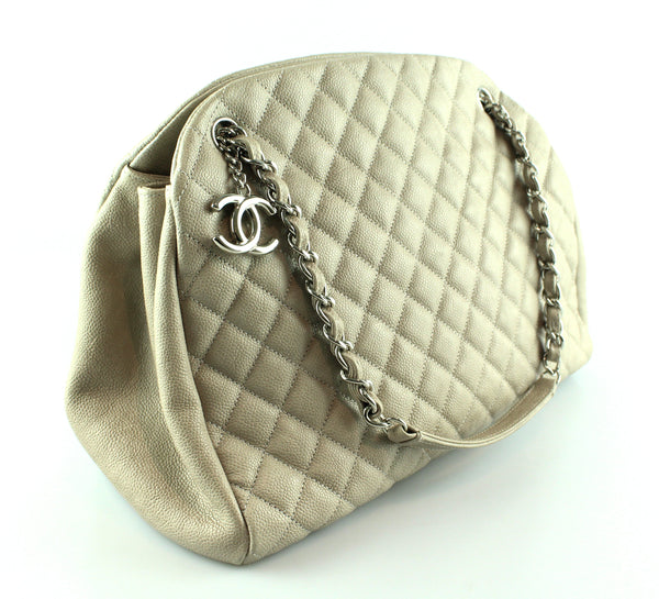 Chanel Caviar Quilted Large Just Mademoiselle Bowling Bag
