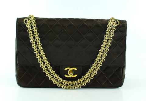 Chanel Brown Lambskin Vintage Reissue Chain Flap GH