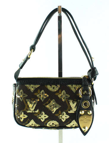 Louis Vuitton Limited Edition Monogram Eclipse Mini Pochette Bag AS3009