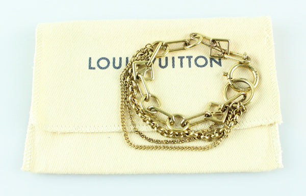 Louis Vuitton Goldtone Chain Bracelet