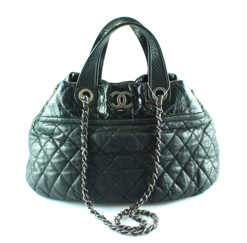 Chanel In The Mix Hobo Washed Calf And Patent Black 2010
