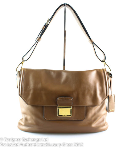 Miu Miu Tan Nappa Leather Shoulder Bag GH