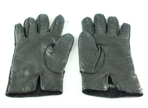 Gucci Black Leather Soho Gloves 7.5