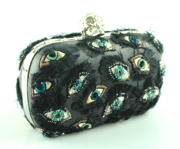 Alexander McQueen Skull Box Clutch Lucky Eye RRP €2,195