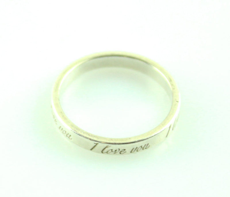 "Tiffany Sterling Silver ""I Love You"" Ring M/L"