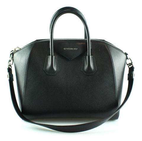 Givenchy Black Goat Leather Antigona Medium SHW
