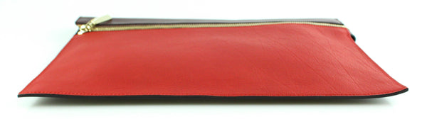 Victoria Beckham Large Zip Pouch Purple/Red