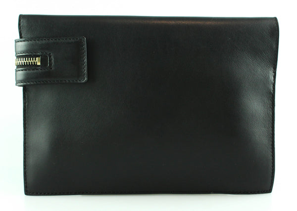 Victoria Beckham Small Buffalo Zip Pouch Black