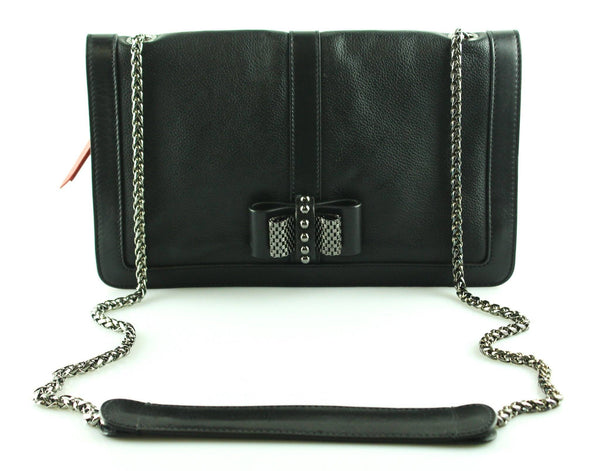 Christian Louboutin Black Leather Sweet Charity Cross Body