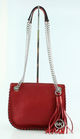 Michael Kors Red Whipstitched Chelsea Cross Body