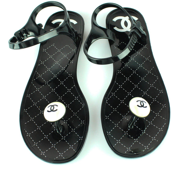 Chanel Ankle Strap Jelly Pearl Sandals (New) EUR 37 UK 4