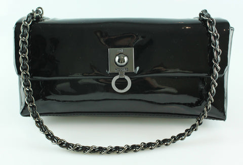 Moschino Black Patent Shoulder Bag