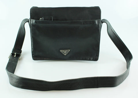 Prada Nylon/Leather Box Messenger