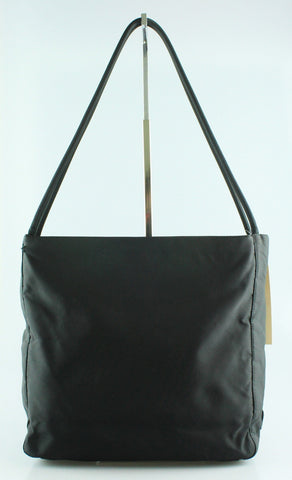 Prada Black Nylon Double Handle Box Tote