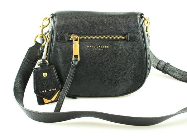 Marc Jacobs Black Recruit Nomad Saddle Bag Small