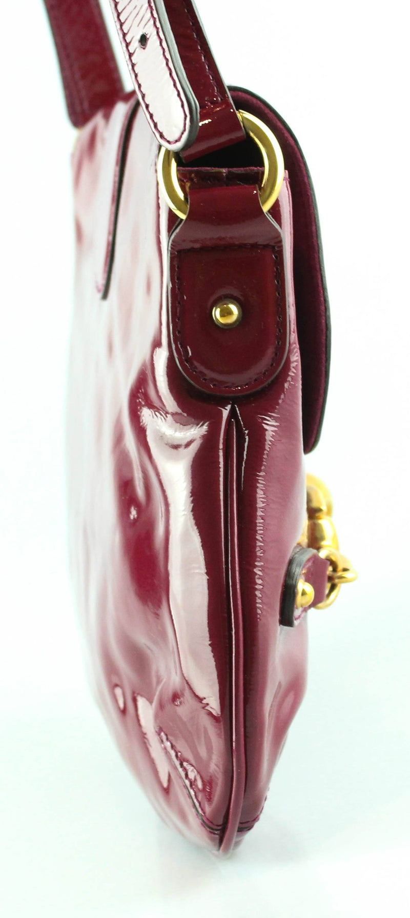 Gucci Pink Patent Horsebit Mini Bag