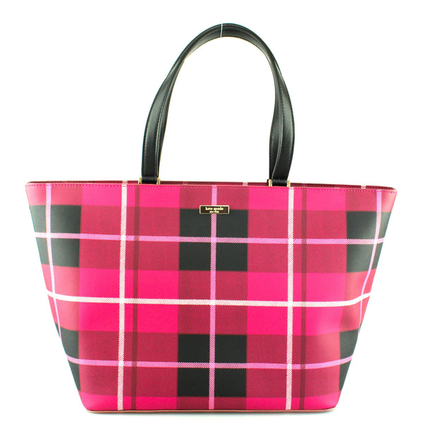 Kate Spade Large Pink/Red Chequered Tote