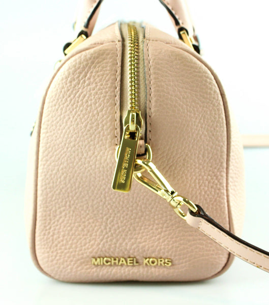 Michael Kors Aria Soft Pink Mini Bowling Bag With Long Strap
