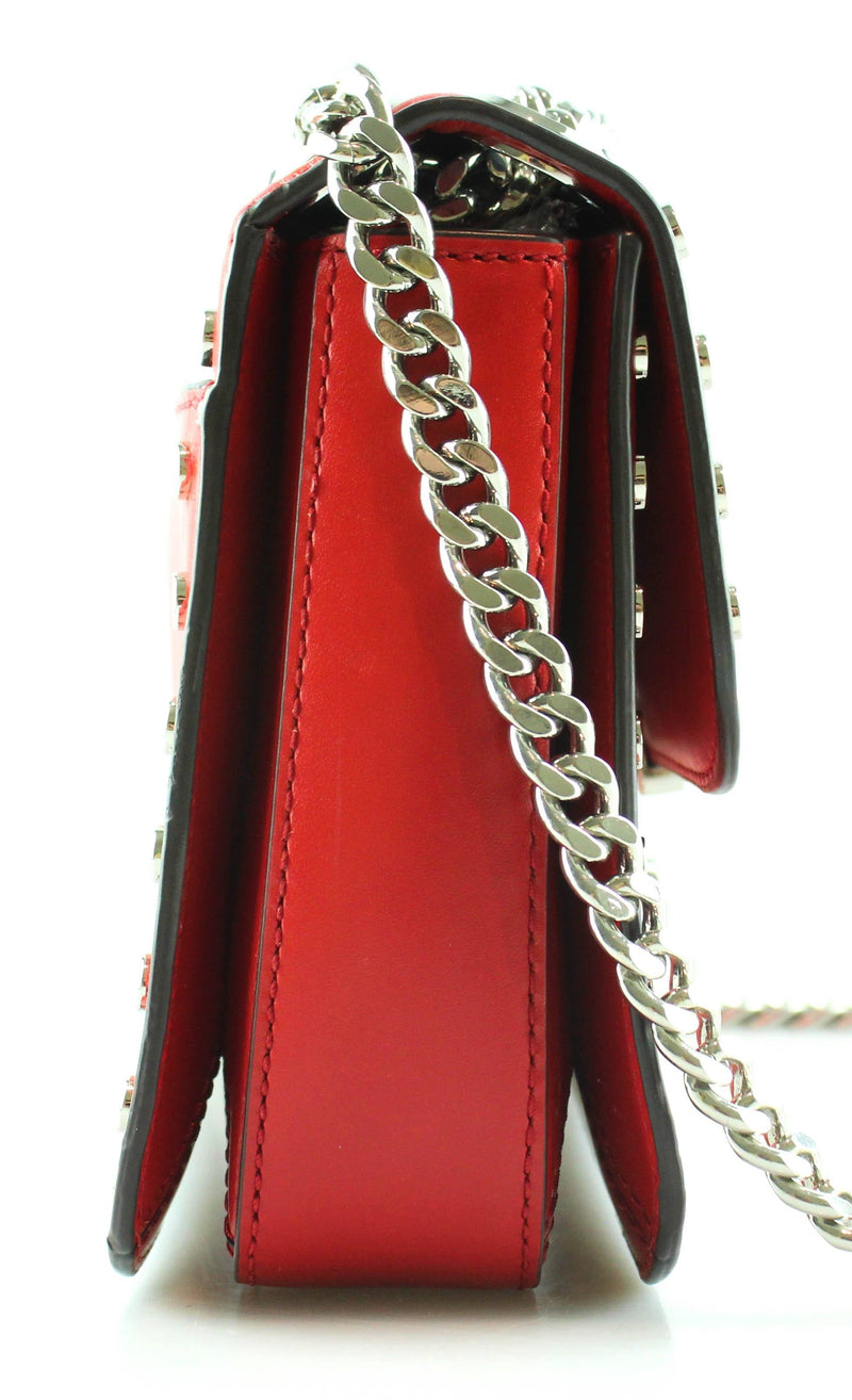 Michael Kors Red Studded Sloane Chain Messenger SH