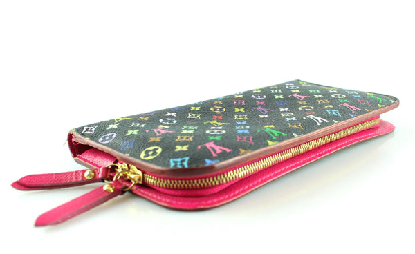 Louis Vuitton Black Murakami Insolite Zipped Wallet CA3009