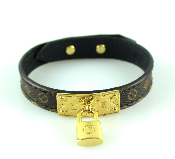 Louis Vuitton Lock Me Bracelet Monogram Gold Lock