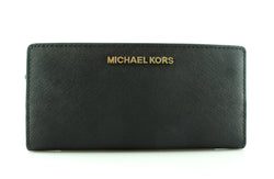 Michael Kors Black Saffiano Jet Set Travel Card Wallet