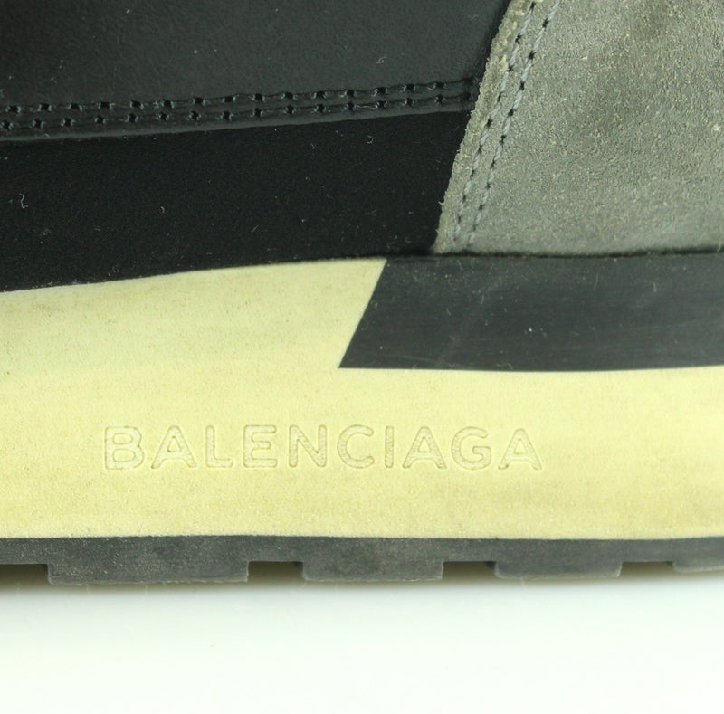 Balenciaga Sock Race Trainers Green/Black/Grey EUR 38 UK 5