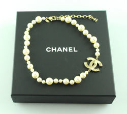 Chanel 2013 Pearl And Globe CC Choker