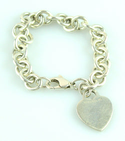 Tiffany RTT Sterling Silver Heart Tag Bracelet (4)