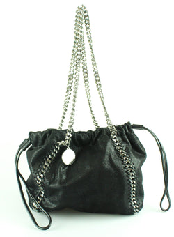 Stella McCartney Medium Reversible Shaggy Deer Bucket Bag
