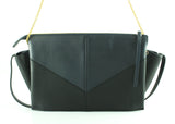 Celine Trifold Clutch On Chain Navy/Black Smooth Calf Leather