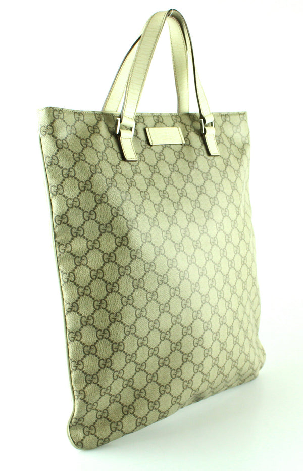 Gucci GG Canvas Ivory North South Tote Bag