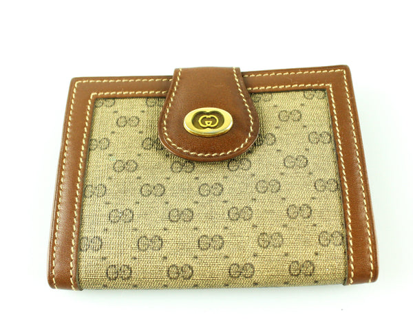 Gucci Vintage Brown GG Business Card Holder 2