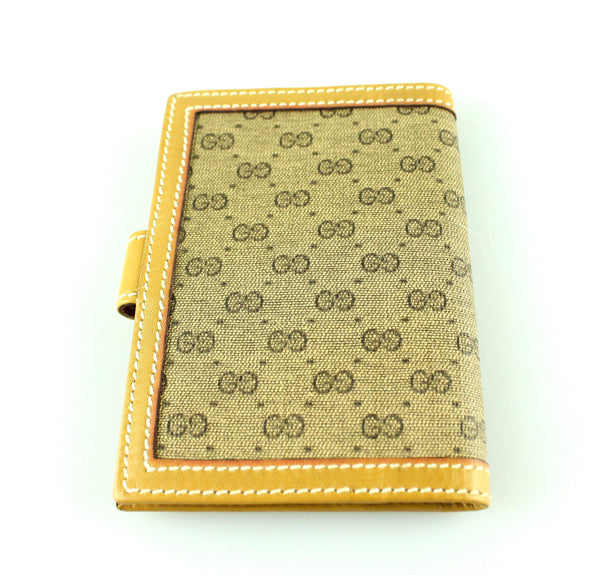 Gucci Vintage Beige GG Business Card Holder