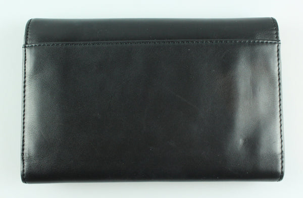 Christian Louboutin Trifold Spike Lock Calf Leather Wallet Black