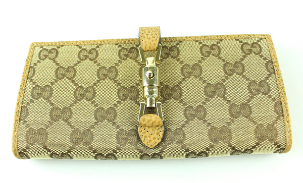 Gucci GG Flap Continental Wallet With Barrell Closure
