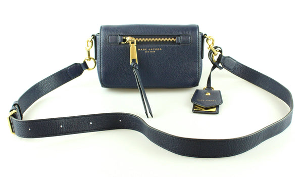 Marc Jacobs Recruit Leather Crossbody Navy