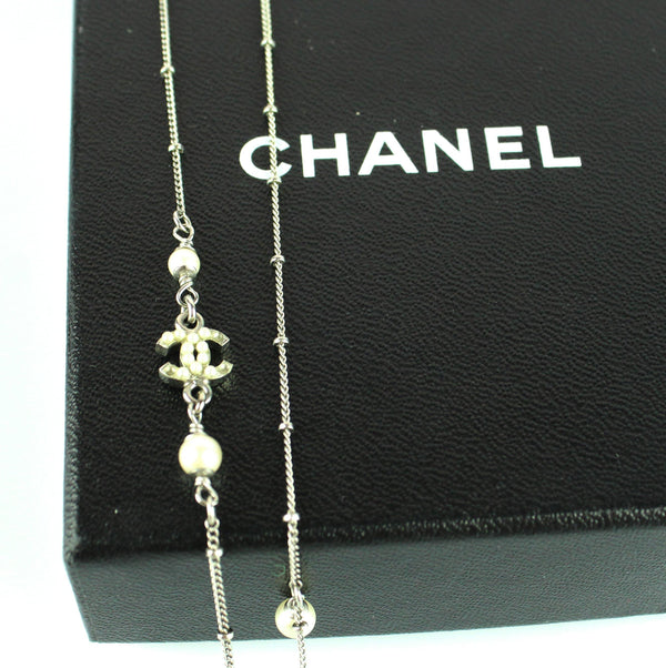 Chanel 2013 Pearl Cluster CC Necklace