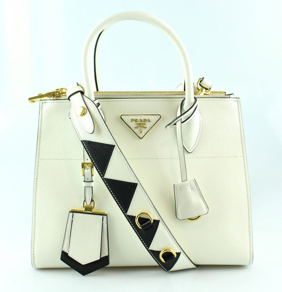 7c7a4835be54 Prada White Saffiano City Paradigme Bag GH – Designer Exchange Ltd