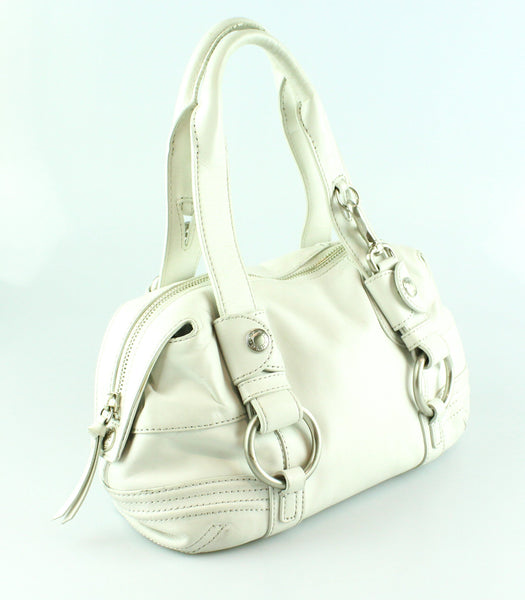 DKNY Small Ivory Oval Shoulder Bag