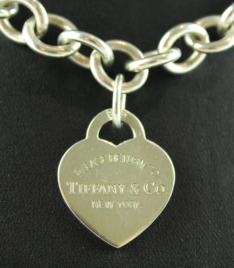 Tiffany & Co. Sterling Silver RTT Heart Tag Necklace RRP €560