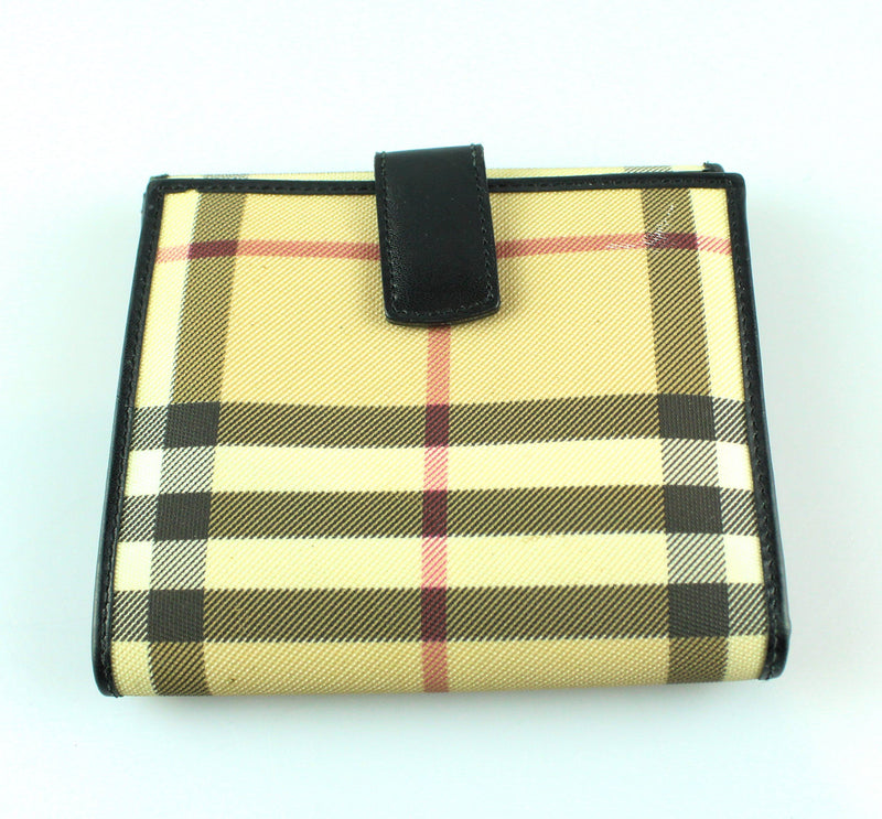 Burberry Compact Bi Fold Heritage Check Wallet