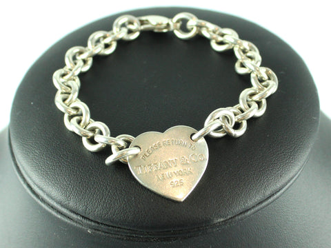 Tiffany & Co RTT Heart Clasp Chain Bracelet 925 *5