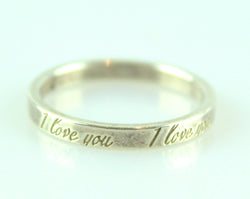 Tiffany & Co Notes Collection Small I Love You 925 Ring