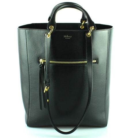 Mulberry Smooth Calf Maple Tote Black