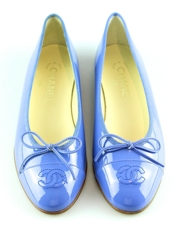 Chanel Blue Patent Ballerina Flats EUR 36.5 UK 3.5 (RRP €660)