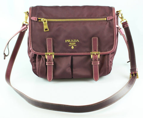 Prada Purple Nylon Messenger BT0687